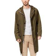 Michael Kors Mens Hooded Anorak Jacket, Green, Medium