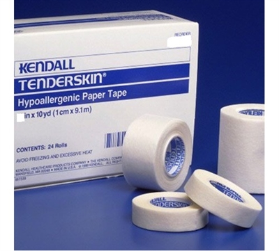 Kendall Tenderskin Medical Tape, 2 Inch X 10 Yards, Paper Tape, # 2419C - Box of 6
