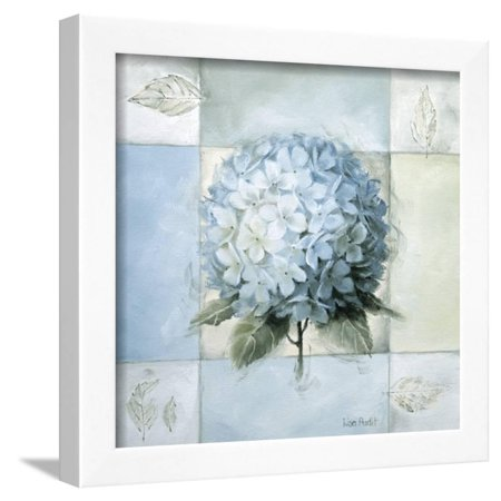 Hydrangea Framed Art (Blue Hydrangea Study 2 Framed Print Wall Art By Lisa Audit)