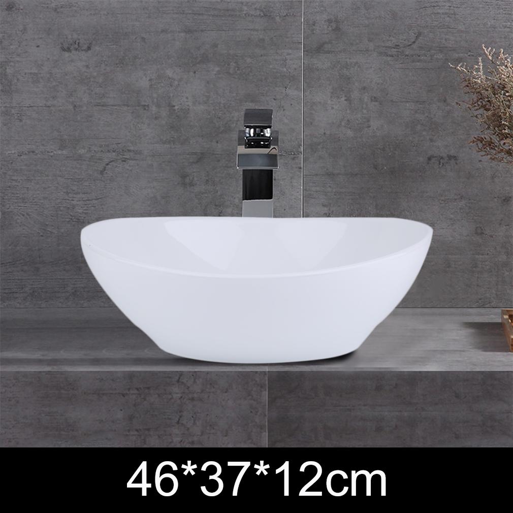 brandnew Bathroom Oval Vessel Sink Basin Pop Up Drain Counter Top Basin Ceramic Bowl