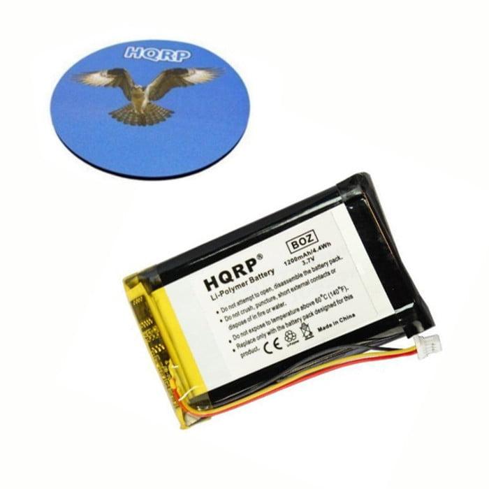 HQRP Battery for GARMIN Nuvi 1400, 1450, 1450T, 1460, 1490, 1490T, 1490T Pro, 1490TV, ED38BD4251U20 GPS Navigator + HQRP Coaster