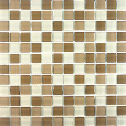 Giorbello Cristezza Select 0.875'' x 0.875'' Glass Mosaic Tile in Coffeehouse