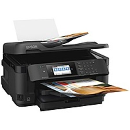 Epson WorkForce WF-7710 Inkjet Multifunction Printer - Color - Copier/Fax/Printer/Scanner - 4800 x 2400 dpi Print - Automatic Duplex Print - 1200 dpi Optical Scan - 251 sheets Input - Duplex Print