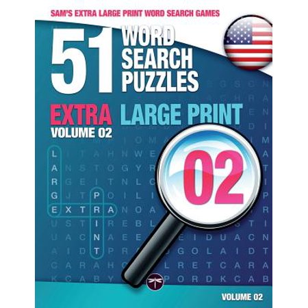 Sam's Extra Large-Print Word Search Games : 51 Word Search Puzzles, Volume 2: Brain-Stimulating Puzzle Activities for Many Hours of (Best Brain Stimulating Games)