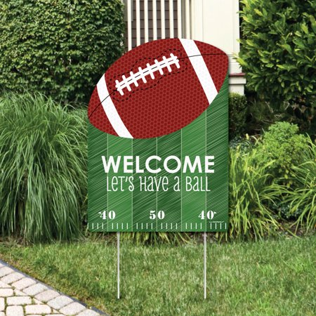 End Zone - Football - Party Decorations - Birthday Party or Baby Shower Welcome Yard Sign - Baby Shower Yard Sign