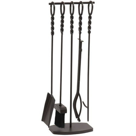 - Pleasant Hearth Waverly 5-Piece Fireplace Tool Set, FA078TL