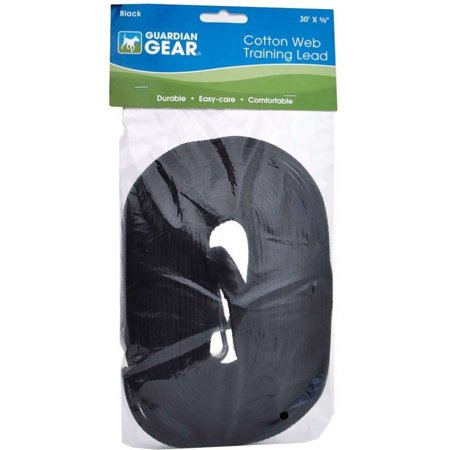 Guardian Gear Cotton Web Training Lead, Black, 30'