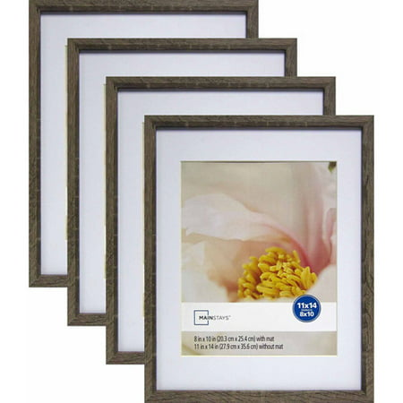 mainstays linear 11 x 14 matted to 8 x 10 rustic frame