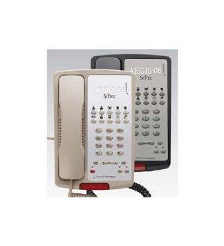 Scitec Aegis-10-08 Standard Phone - Black - 1 x Phone Line