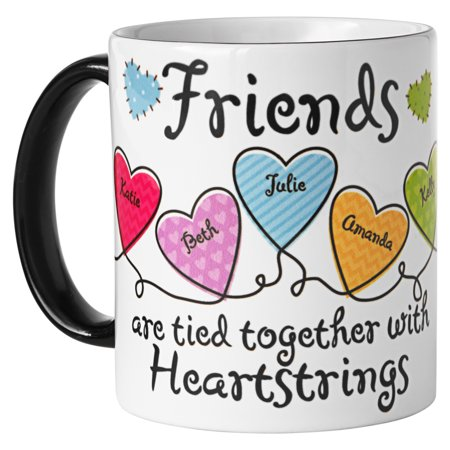 Personalized Friends Heartstrings Coffee Mug -11oz-Available for Sisters or Friends - Personalized Drinkware