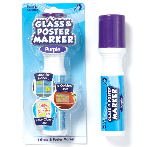 Purple Glass And Poster Marker