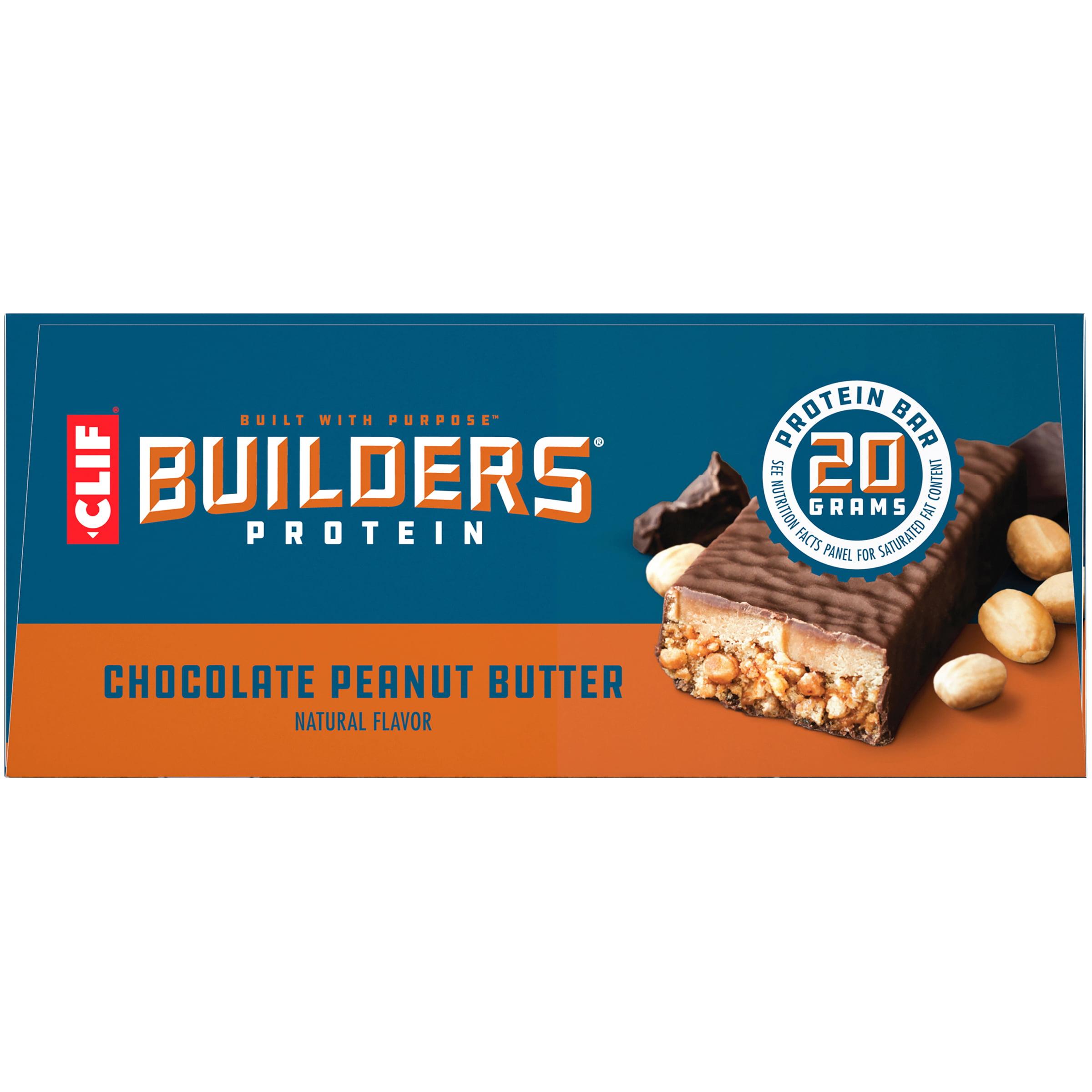 Clif Builders Protein Bars Vanilla Almond Flavor 20g Protein 2.4 Oz 12 Ct for sale online