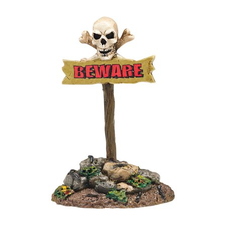 Dept 56 Halloween Village 4047607 Beware of the Boneyard sign New - Beware Sign Halloween