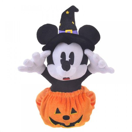 New Halloween Store (Disney Store Japan Mickey Halloween Pumpkin Reversible Plush New with)