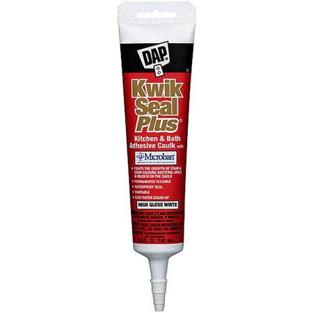Dap 18526 White Kwik Seal Plus Kitchen And Bath All Purpose Adhesive Caulk
