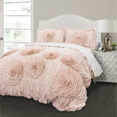 Serena Comforter Pink Blush 3 Piece Set Walmart Com