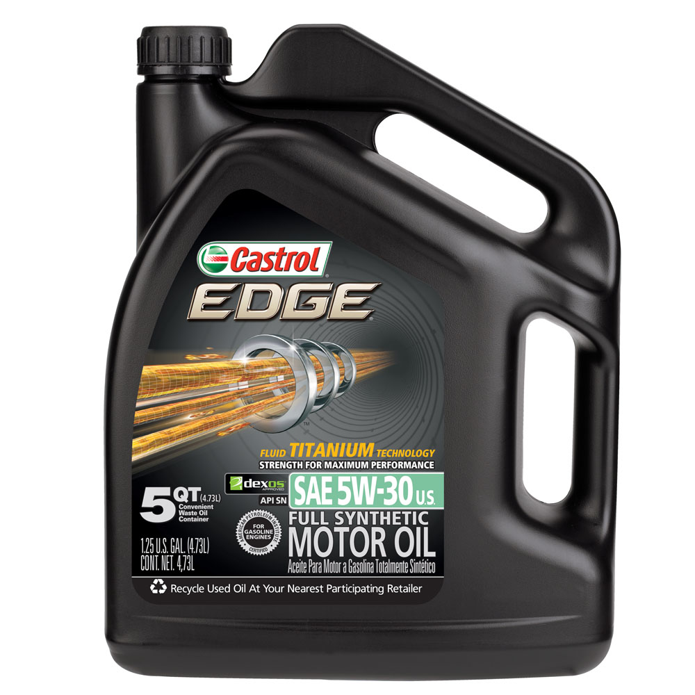 Castrol EDGE 5W-30 Full Synthetic Motor Oil, 5 qt