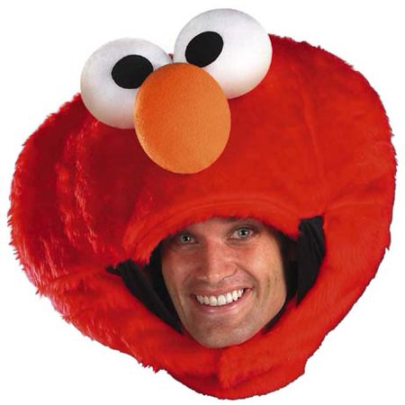 Tween Sesame Street Costumes (Sesame Street Elmo Adult Headpiece Costume)