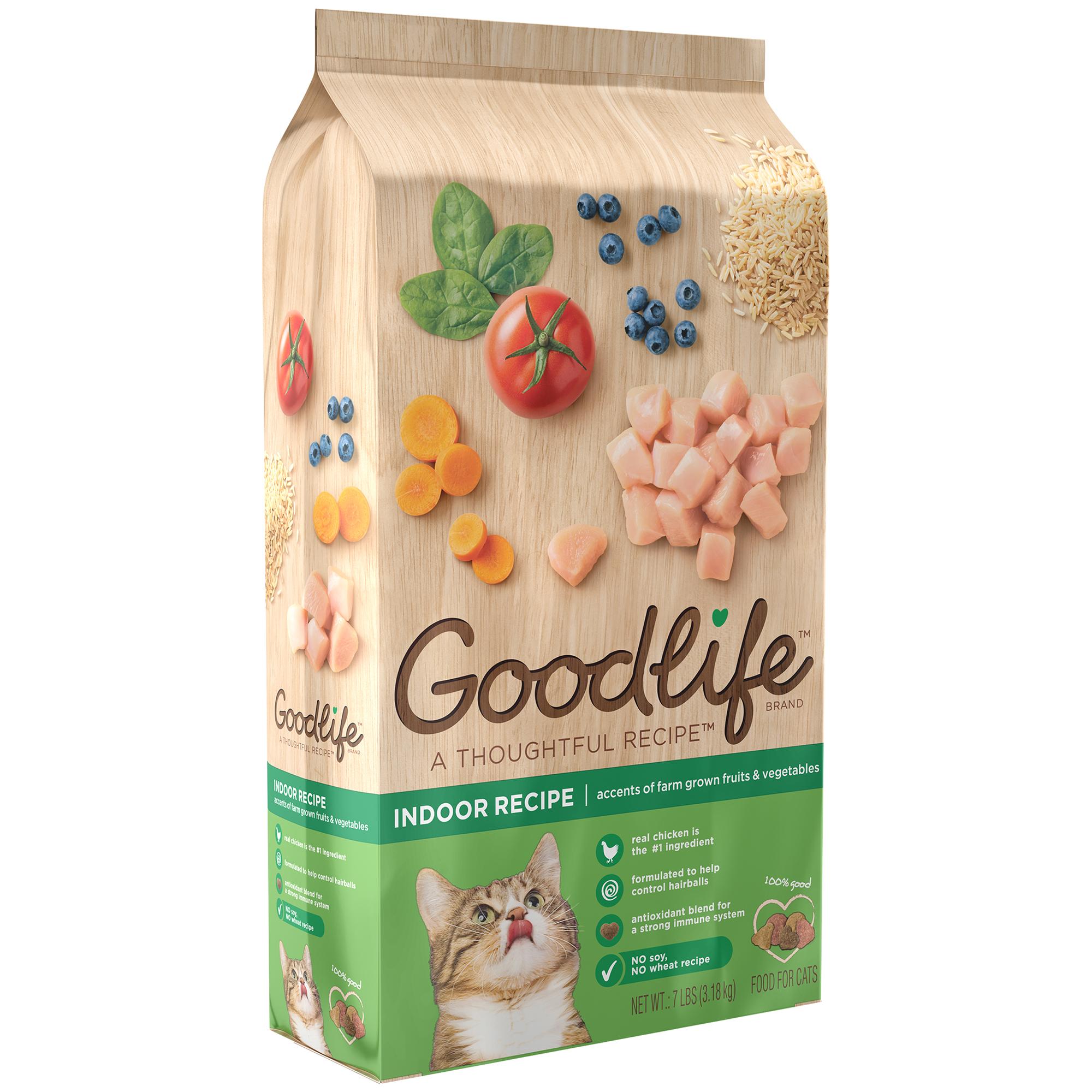 The Goodlife Recipe Indoor Recipe Chicken Dry Cat Food, 7 Lb