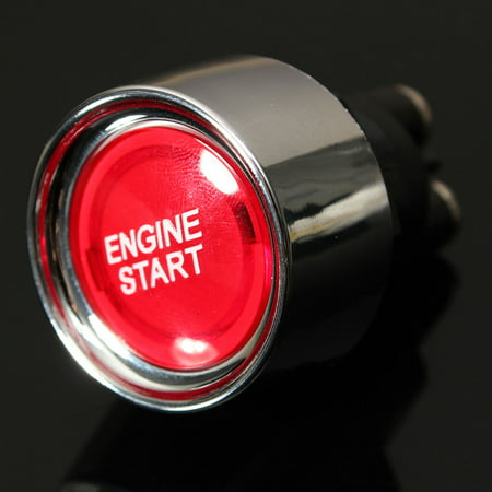 Universal 12V Car Red Illuminated Engine Start Switch Push Button Race Starter MATCC US