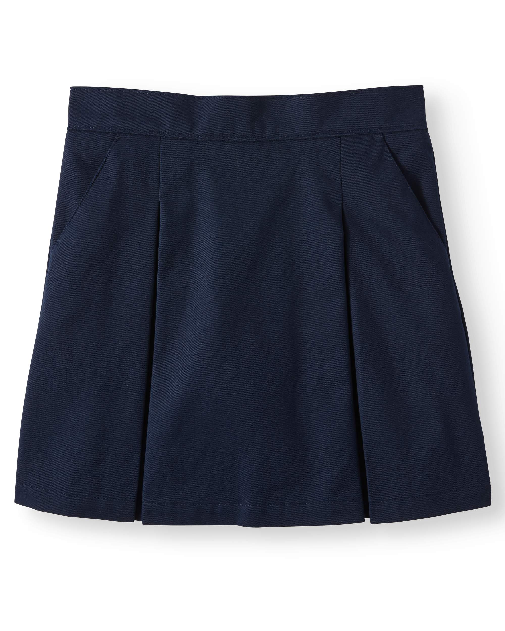 Girls' School Uniform Twill Scooter with Pockets