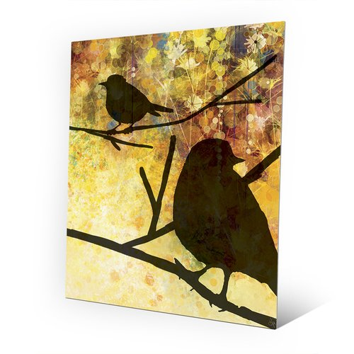 Click Wall Art 'Spring Birds' Graphic Art on Metal