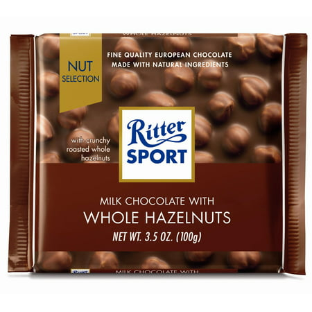 Ritter Sport 3.5 oz Milk Chocolate with Whole Hazelnuts (Ritter Sport Chocolate Nutrition)