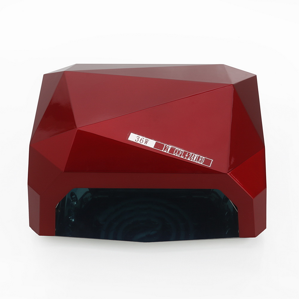 Zimtown 36W LED CCFL Nail Dryer Diamond Shape Curing Lamp Machine For UV Gel Nail Polish Red - image 6 of 7