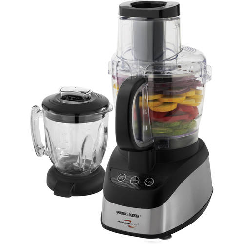 Black & Decker PowerPro 2-in-1 Food Processor, Black