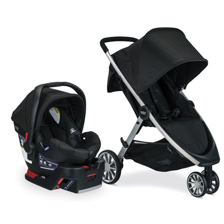Britax B-Lively & B-Safe 35 Travel System, Raven (Britax B Agile 2014 Travel System Black)