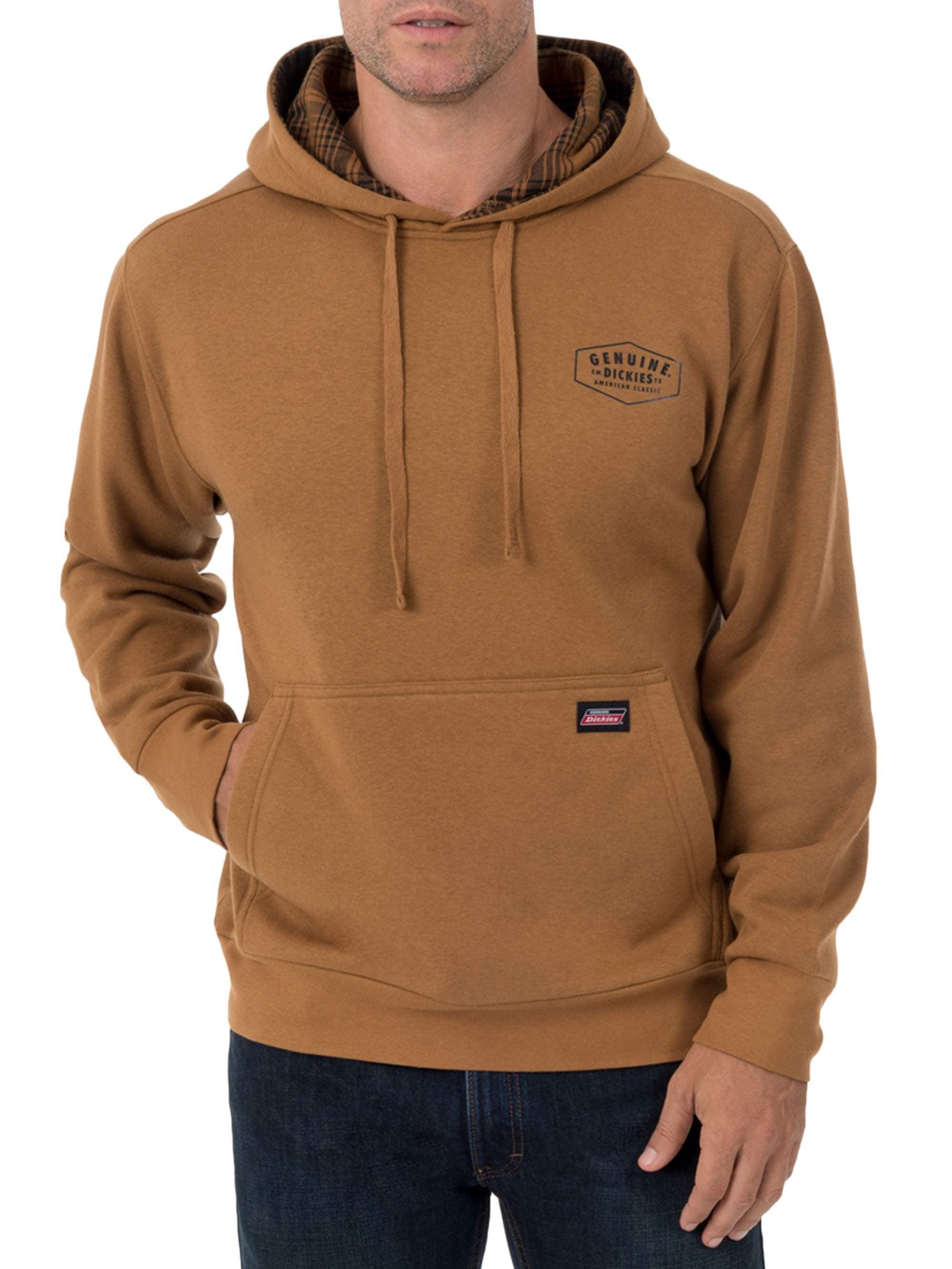 Dickies Men's Fleece Pullover with Flannel Lined Hoodie