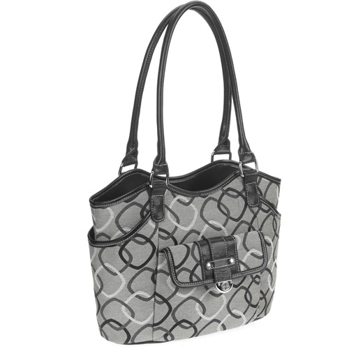 George Women's Jacquard Mid-Sized Swagger Handbag