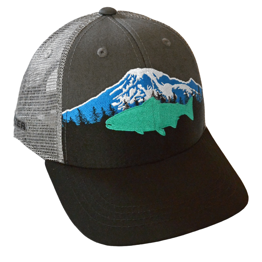 Rep Your Water Hat Mt Rainier - Black/Dark Gray