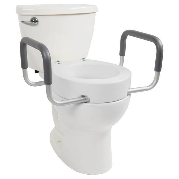 Toilet Seat Riser   Raised Toilet Seat with Handles for