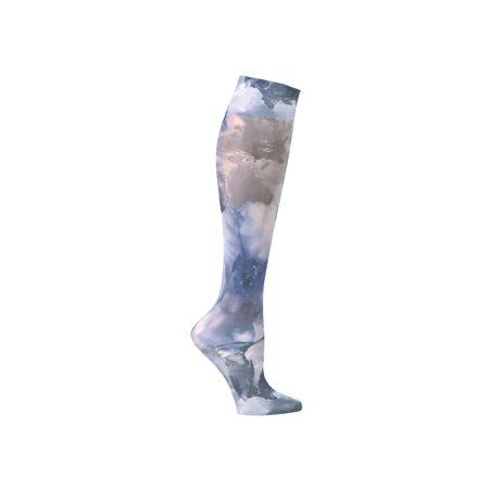 4e8b1cae9b7 Celeste Stein - Women s Printed Mild Compression Wide Calf Knee High  Stockings - Blue Watercolor Flowers - Walmart.com