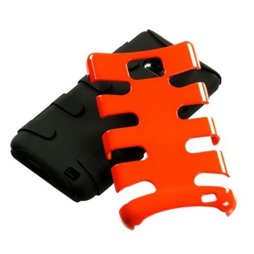 Insten Carrot Orange/Black Fishbone Phone Case for SAMSUNG: I777 (Galaxy S II)