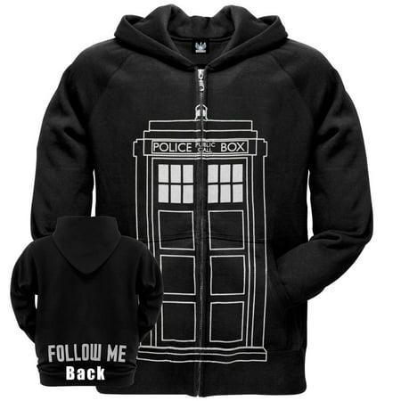 Doctor Who - Follow Me Tardis Zip Hoodie