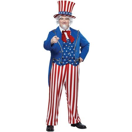 Patriotic Uncle Sam Plus Size Costume - Uncle Sam Halloween Costumes