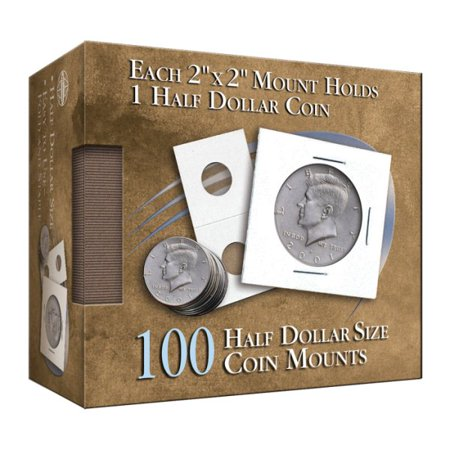 - Half Dollar 2x2 Coin Mounts Cube 100 Count (Hardcover)