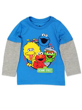 Sesame Street Gang Elmo Baby Toddler Boys Long Sleeve Tee CSGB400