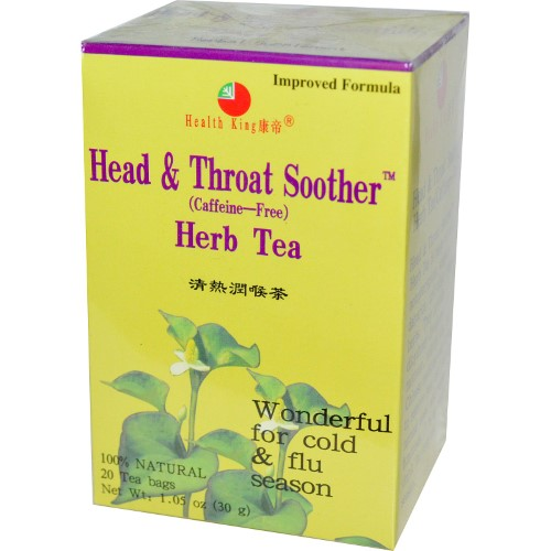 Health King Head & Throat Soother Tea, 20 Ct