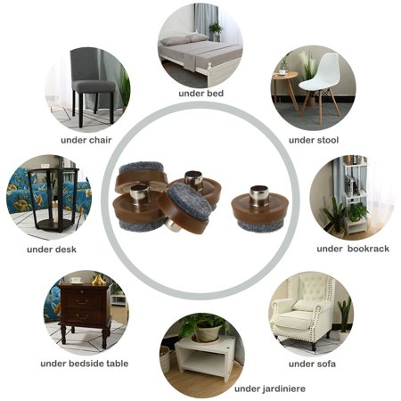 "8pcs Nail-on Felt Pad Nails Glide Slider 1"" 26mm Dia for Wooden Furniture Chair Table Leg Feet - image 3 de 7"