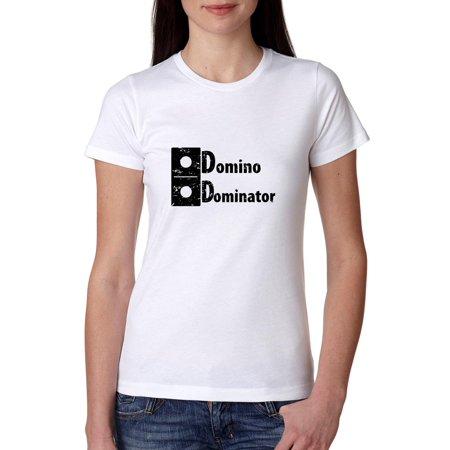 Vintage Player T-shirt (Domino Dominator - Best Domino Player Vintage Women's Cotton)