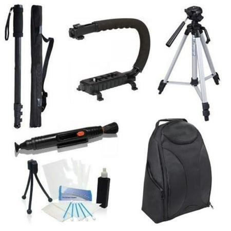 Accessory Backpack Bundle Kit for JVC Everio GZ V500 E300 E555 - E300 Accessory