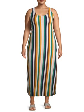 Eye Candy Juniors' Plus Size Scoop Neck Maxi Dress