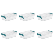 Sterilite 2.7 Qt Modular Latch Box, Teal Sachet (Available in Case of 6 or Single Unit)