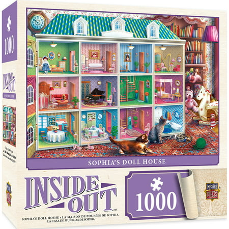 Inside Out Sophia's Dollhouse - 1000 Piece Jigsaw - Gingerbread Puzzle House