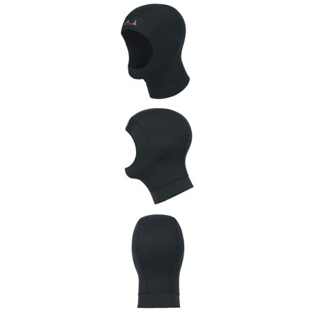 Unisex 3mm Diving Hood Cold Water Surfing Hat Hood Neck Cover Wetsuits Vented Bib Hood Black XL