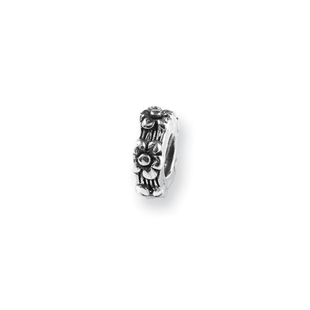 Sterling Silver Flower Spacer Bead Charm (Sterling Silver Flower Bead)