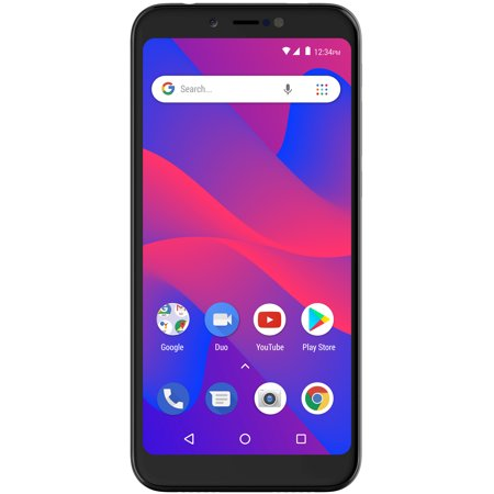 BLU Studio Mega 2018 S910Q 16GB Unlocked GSM Dual-SIM Phone w/ Dual 13MP + 2MP Camera - Black